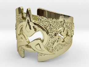 To Wed A Warrior Ring in 18k Gold Plated Brass: 9.25 / 59.625