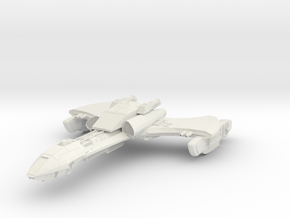 Klingon WarReaper Class  HvyCuiser in White Strong & Flexible