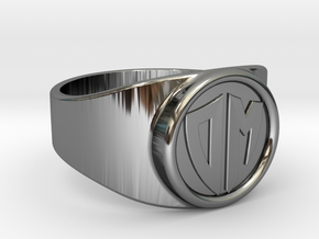 Thin Signet ring (Customizable) in Fine Detail Polished Silver