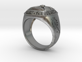 THE SUN RING - ORIGINAL in Natural Silver: Medium