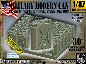 1/87 Modern Military WATER Can Set002 in Smooth Fine Detail Plastic