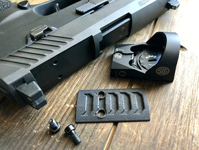 Razorback Optic Plate for SIG Romeo P320 RX in Matte Black Steel