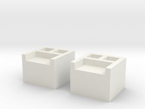 AT-AT Connector Boxes x2 in White Natural Versatile Plastic