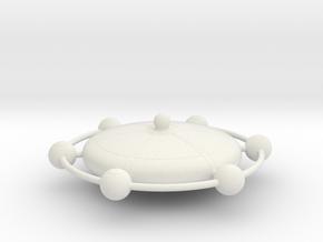Omni Scale Franz Joseph Federation Starbase Medium in White Natural Versatile Plastic