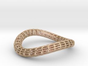 BENTorus_07_SUB_fixed_02 in 14k Rose Gold Plated Brass