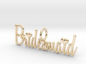Bridesmaid Heart Pendant in 14K Yellow Gold