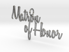 Matron of Honor Pendant in Natural Silver