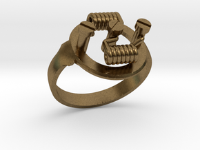 RDA RING - DUAL CENTER COILS in Natural Bronze: 9 / 59