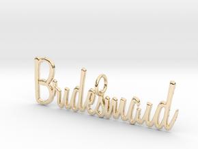 Bridesmaid Pendant in 14K Yellow Gold