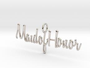 Maid of Honor Necklace Pendant in Platinum