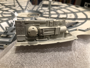DeAgo Millennium Falcon sheets for side panels mod in Frosted Ultra Detail