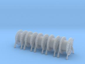 1/72 USN Rope Reels Big Set x5 in Smooth Fine Detail Plastic