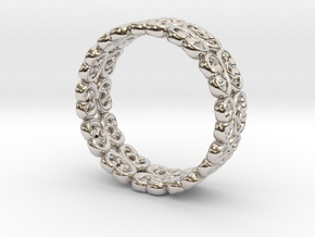 "Bracelet ""Bloom"" in Rhodium Plated Brass: Small"