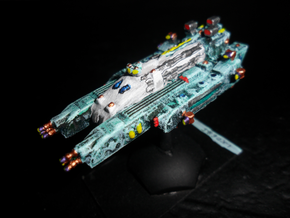 WE303 Larafsyn-Noalo Battlecruiser in White Natural Versatile Plastic