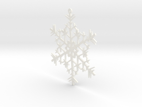 Snowflake Ornament in White Processed Versatile Plastic