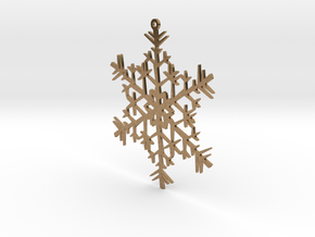 Snowflake Ornament in Natural Brass