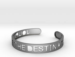 The Journey Is The Destination (TM) Bangle in Polished Silver