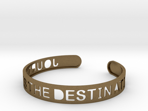 The Journey Is The Destination (TM) Bangle in Natural Bronze