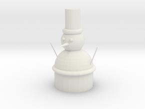 雪人 in White Natural Versatile Plastic: 6mm