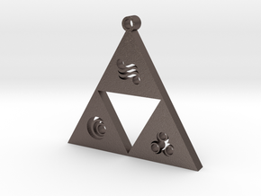 triforce in Polished Bronzed Silver Steel
