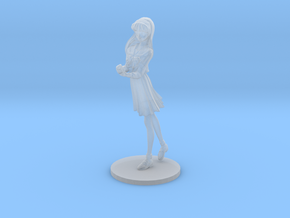 1/48 High School Girl in Winter Uniform 01 in Smoothest Fine Detail Plastic