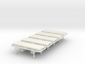 MOF Bench - 3 Cushion(5) - 72:1 Scale in White Natural Versatile Plastic