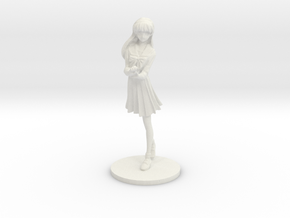 1/12 High School Girl in Winter Uniform 01 in White Natural Versatile Plastic
