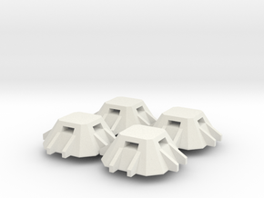 6mm Concrete Pillboxes in White Natural Versatile Plastic