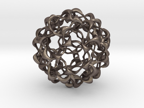 Liquid Solid Wave in Polished Bronzed Silver Steel