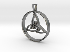 Triquetra Pendant in Natural Silver