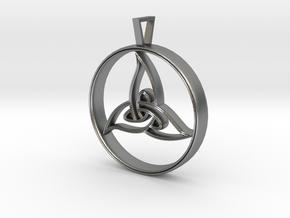 Triquetra Pendant in Natural Silver