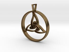 Triquetra Pendant in Natural Bronze