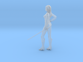 1/24 Sword/Katana Lady in Smooth Fine Detail Plastic