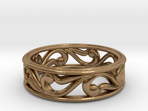 "Bracelet ""Move"" in Natural Brass: Small"