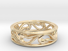 "Bracelet ""Move"" in 14k Gold Plated Brass: Small"