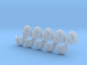 Space Vikings XIII brotherhood Mk7/8 pads L in Smooth Fine Detail Plastic