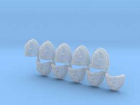 Space Vikings V brotherhood Mk7/8 shoulder pads L in Smooth Fine Detail Plastic
