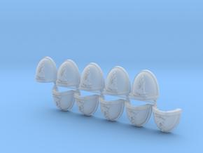 Space Vikings XI brotherhood Mk7/8 shoulder pads L in Smooth Fine Detail Plastic