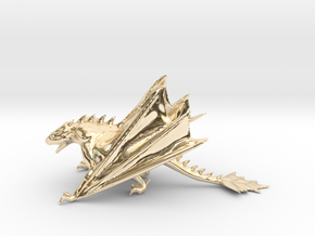Dragon Model in 14k Gold Plated Brass: Medium