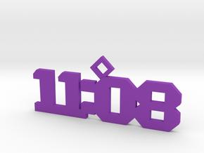 11:08 necklace in Purple Processed Versatile Plastic