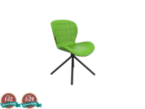 Miniature OMG Chair - Zuiver  in White Natural Versatile Plastic: 1:24