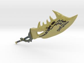 Golem Blade (Monster Hunter) in Glossy Full Color Sandstone: Medium