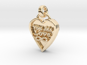 You Me Love Forever in 14k Gold Plated Brass