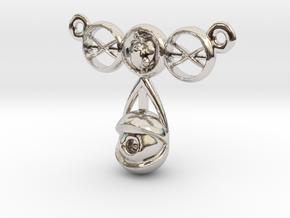 eyeball heart necklace pendant in Platinum: Small