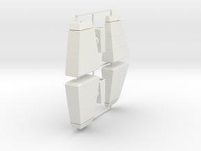Galvatron Turnable Shoulder Pylons  in White Natural Versatile Plastic