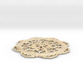 snowflake in 14K Yellow Gold