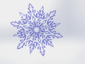 Snow_flake in White Natural Versatile Plastic