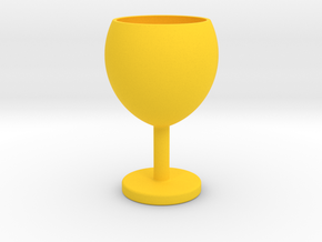 Wine glass in Yellow Processed Versatile Plastic