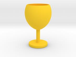 Wine glass in Yellow Processed Versatile Plastic