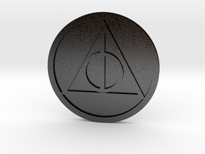 Hallows Coin in Matte Black Steel
